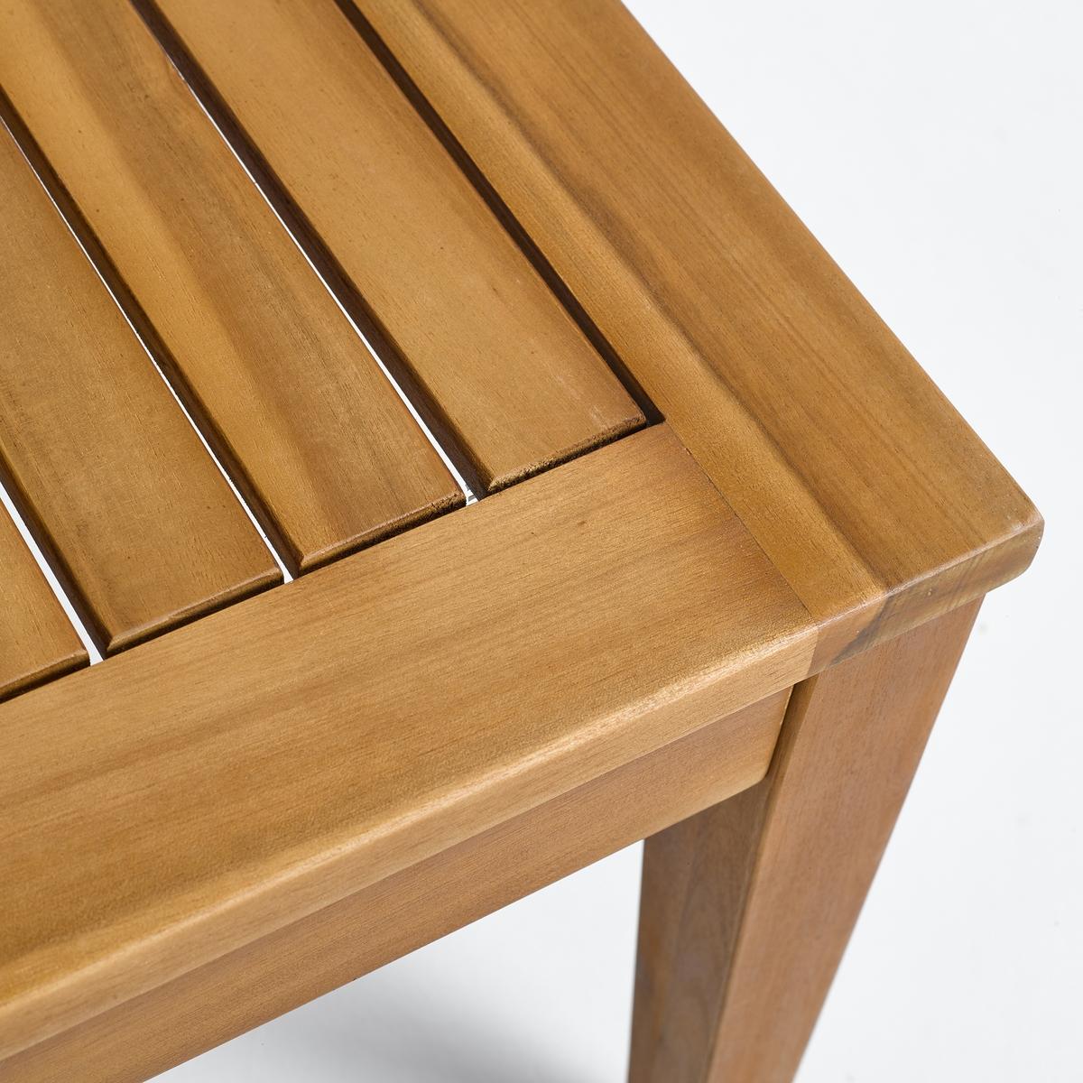 Столик журнальный для сада из акации, Cl?antheЖурнальный столик Cl?anthe. Журнальный столик из акации для создания атмосферы в саду или на террасе.Характеристики :- Из акации, покрытой олифой- Поставляется готовым к сборке, инструкция прилагаетсяРазмеры  :- Ш.90 x В.40 x Г.90 см, 10 кг.Размеры и вес упаковки :- Ш.95 x В.9 x Г.92,5 см, 12 кгДоставка: Доставка на этаж по предварительной записи! Внимание!Убедитесь в том, что размеры дверей, лестниц,  лифтов позволяют доставить товар в упаковке до квартиры.<br><br>Цвет: коричнево-каштановый<br>Размер: единый размер