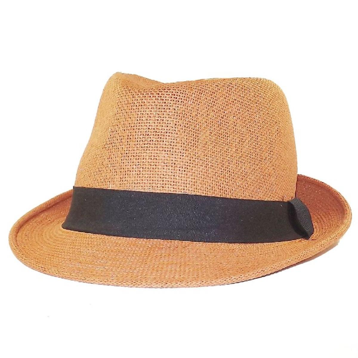 Chapeau trilby orange Brad