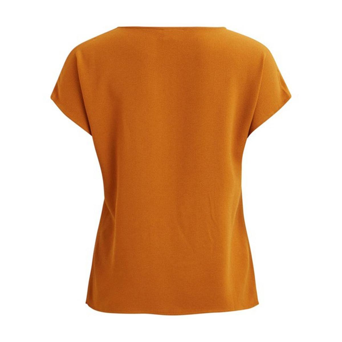цена Блузка La Redoute С короткими рукавами и завязками спереди 34 (FR) - 40 (RUS) каштановый онлайн в 2017 году