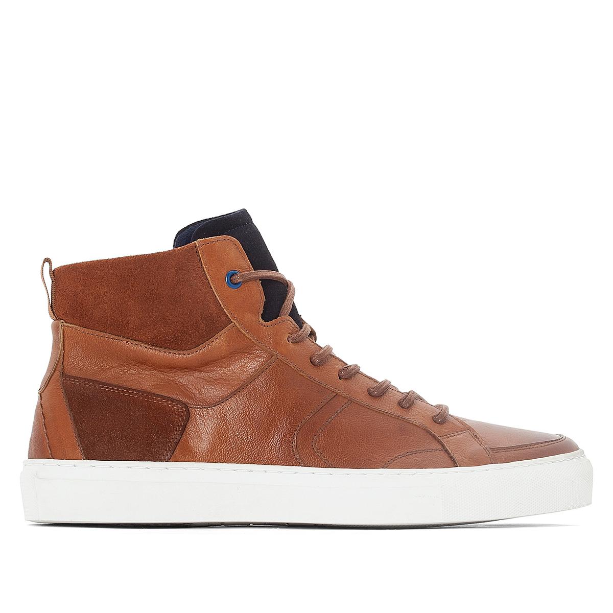 Кеды высокие кожаные на шнуровке Chah 17 10 is кожаные кеды ten top max