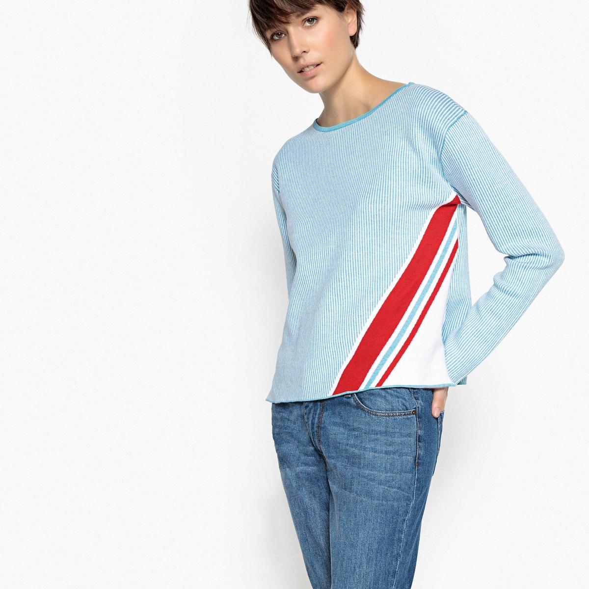 Пуловер с вырезом-лодочкой из тонкого трикотажа La Redoute Collections
