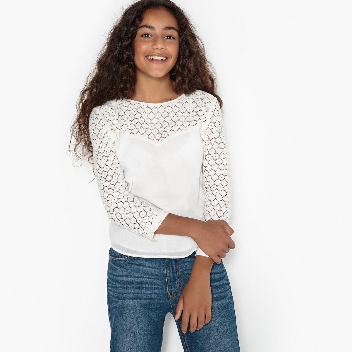 Блузка кружевная на 10-16 лет