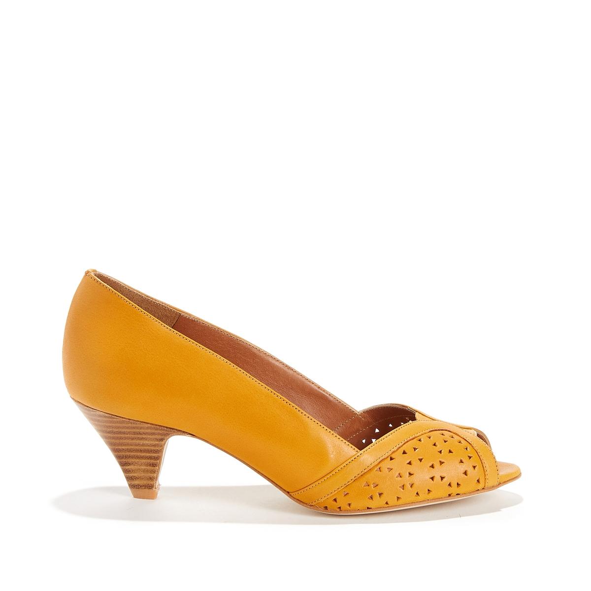 Туфли кожаные с открытым мыском TOTEM