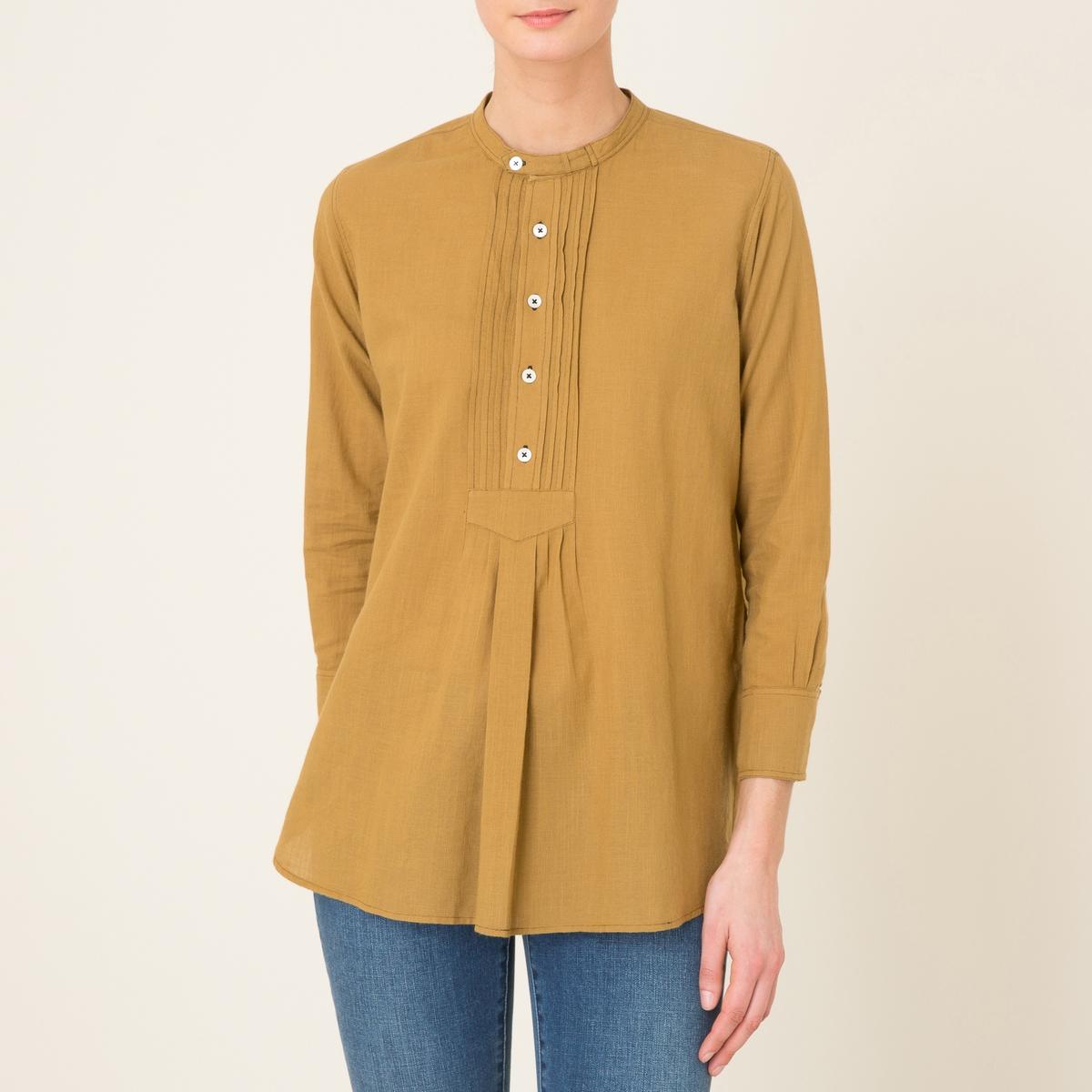 Блузка с манишкой BRIDGETСостав и описаниеМатериал : 100% хлопокМарка : SOEUR<br><br>Цвет: охра