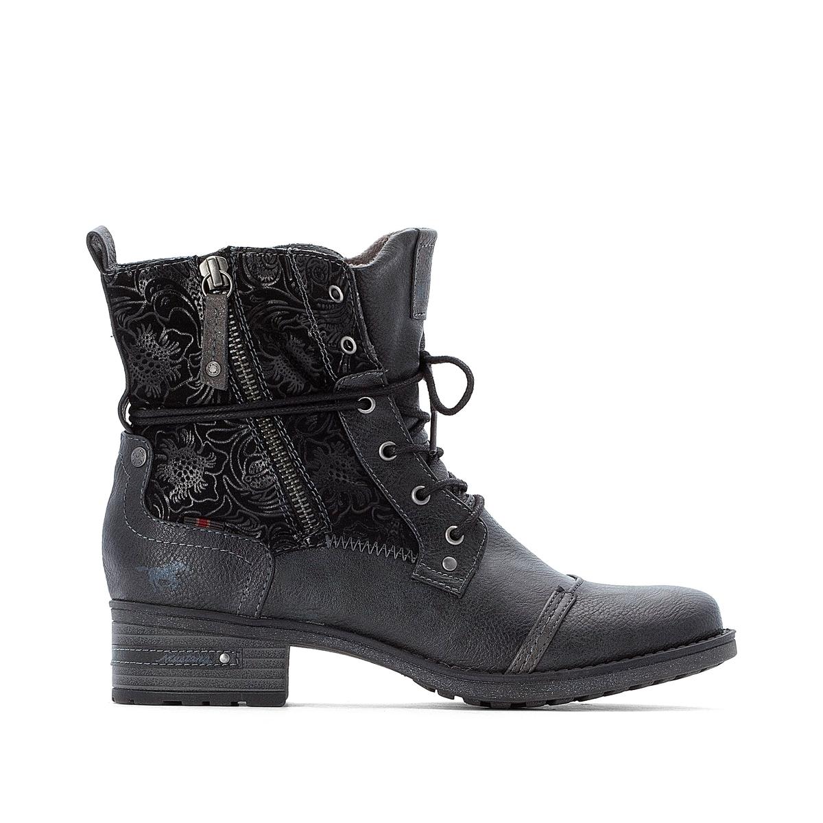 Ботинки La Redoute На шнуровке 38 серый ботинки la redoute на шнуровке 38 белый