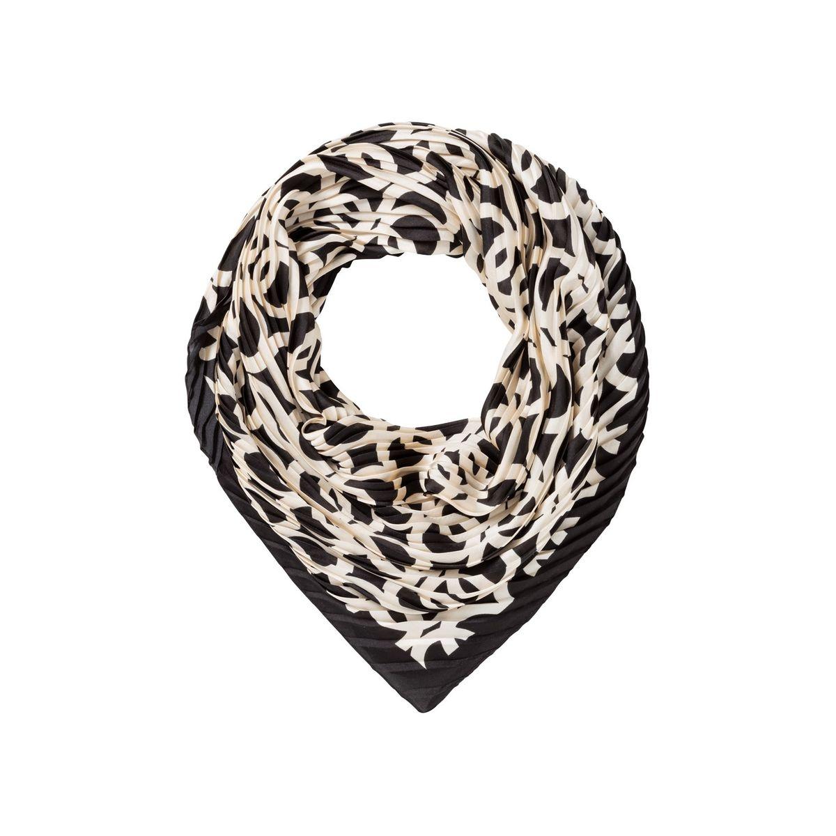 Foulard plissé à imprimé chaînes stylisé