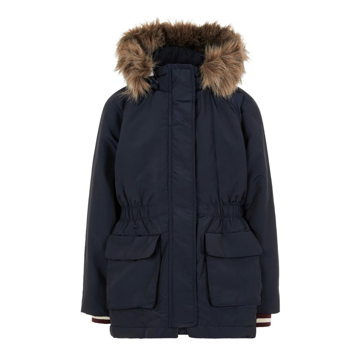 цена Парка La Redoute Зимняя с капюшоном 7 лет - 120 см синий онлайн в 2017 году