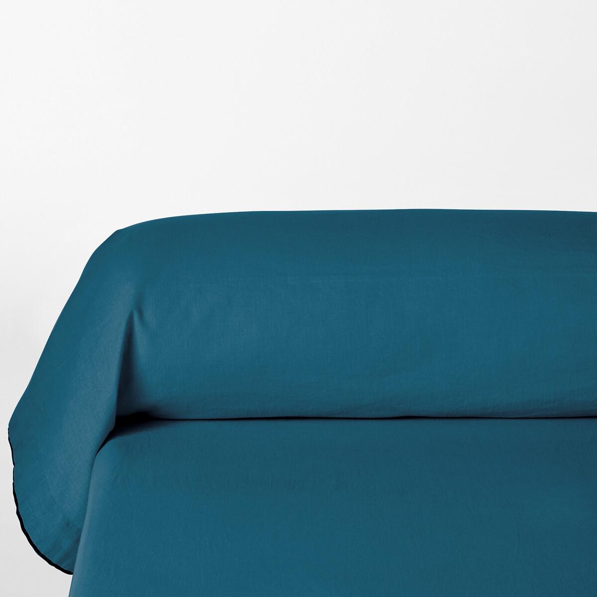наволочки на подушку и наволочка на подушку валик из хлопка richmond Наволочка LaRedoute На подушку-валик из льна и хлопка Lior 85 x 185 см синий