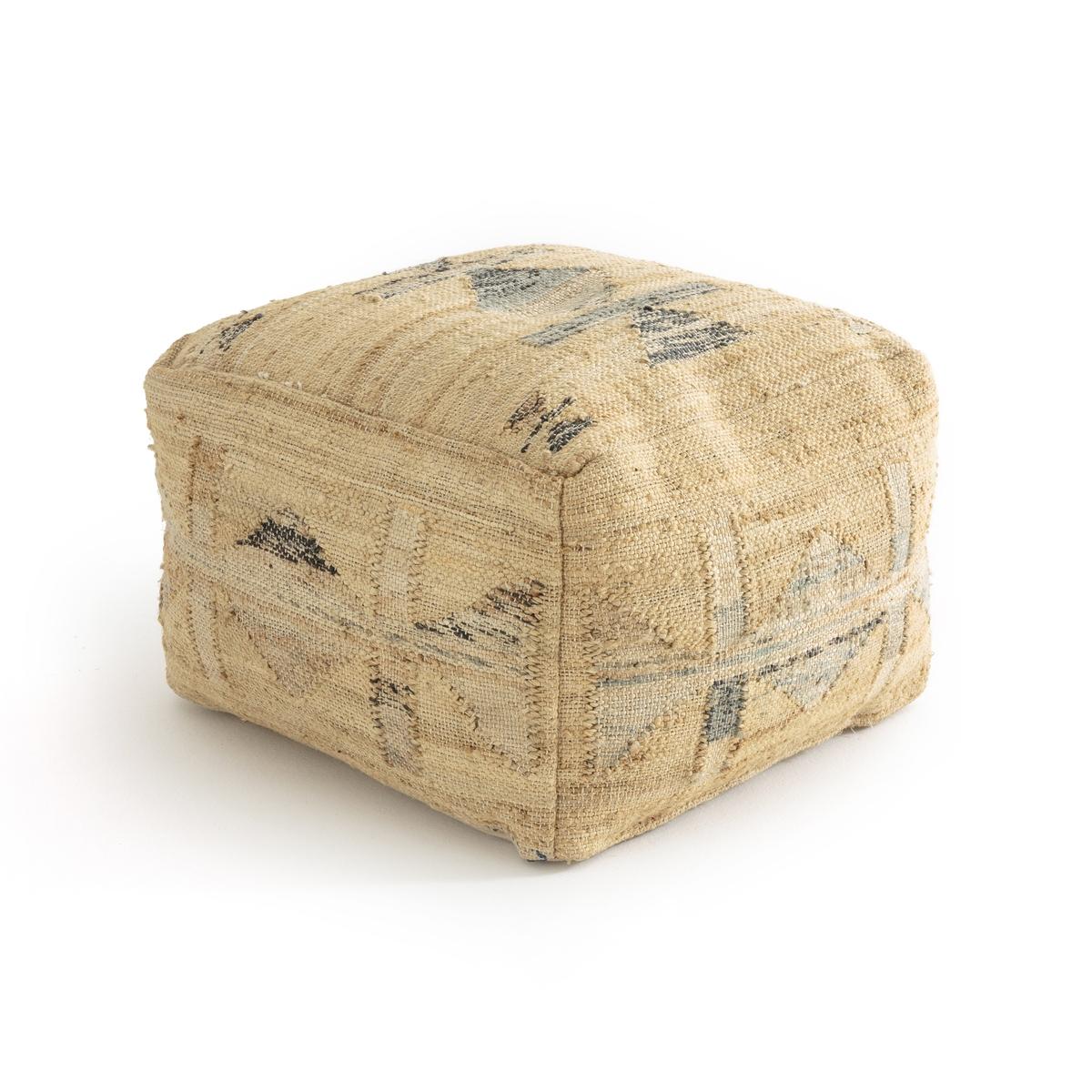 Пуф La Redoute Clemy единый размер бежевый комплект из полотенце для la redoute рук из хлопка и льна nipaly 50 x 100 см белый