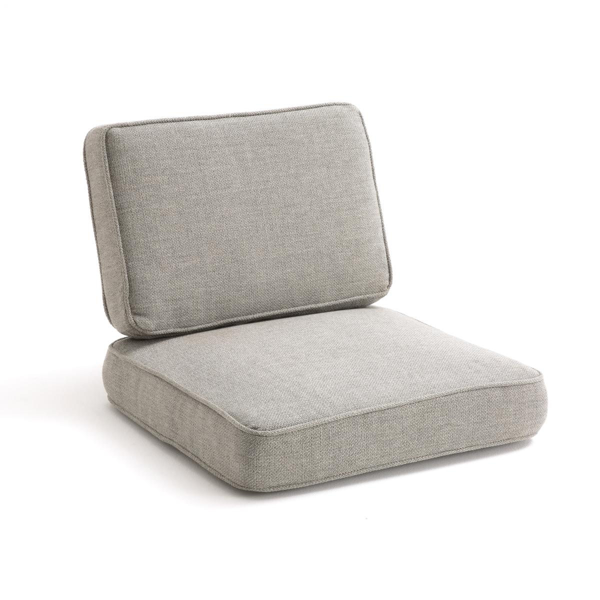Подушки твидовые для кресла DilmaПодушки для кресла Dilma. Сочетается с каркасом Dilma для создания удобного и простого в уходе кресла.   Материал : - Покрытие : твид 79% полиэстера, 13% акрила, 8% вискозы- Наполнитель : полиэфирная пена 30 кг/м? и слой из волокон полиэстера. - Система крепления для подушки сидения.- Чехлы подушек съемныеРазмеры :- Подушка для сидения : Ш60 x В10 x Г63 см- Подушка под спину : Ш60 x В41 x Г10 см<br><br>Цвет: светло-серый,темно-серый
