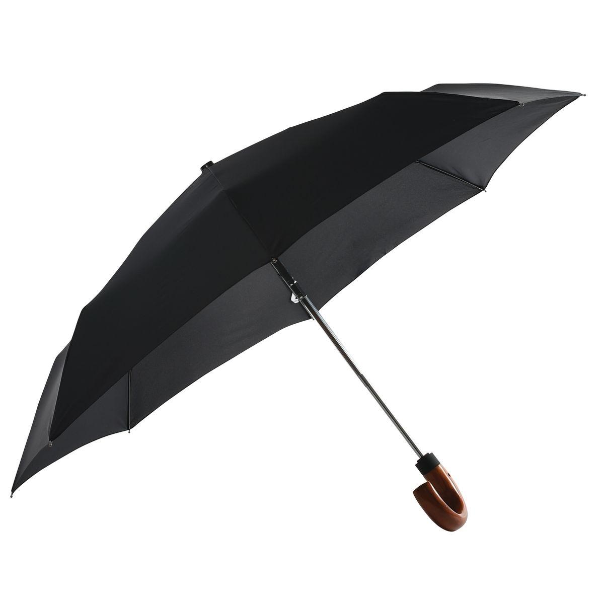 Parapluie Neyrat Autun - noir - pliant - poignée canne