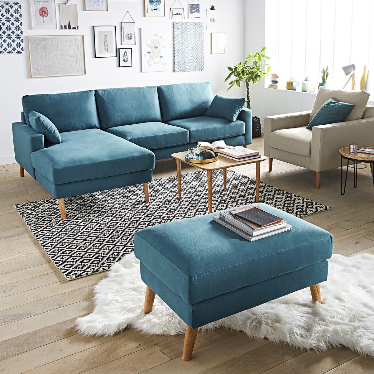 Pouf coton Stockholm, confort Excellence