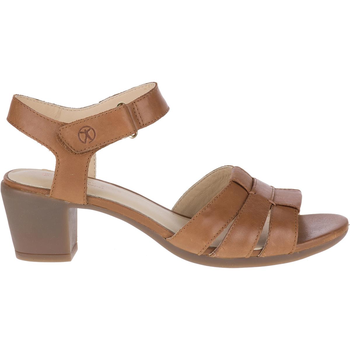 Sandálias em pele com tacão, Strap
