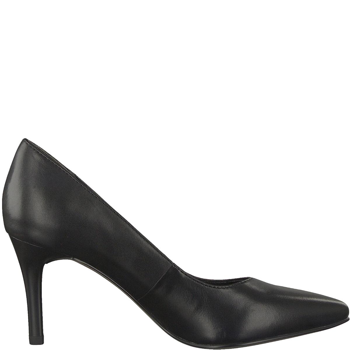 Туфли кожаные SeagullДетали •  Каблук-шпилька •  Высота каблука : 7,5 см •  Застежка : без застежки •  Заостренный мысокСостав и уход •  Верх 100% кожа •  Подкладка 50% синтетического материала, 50% текстиля •  Стелька 100% синтетический материал<br><br>Цвет: черный