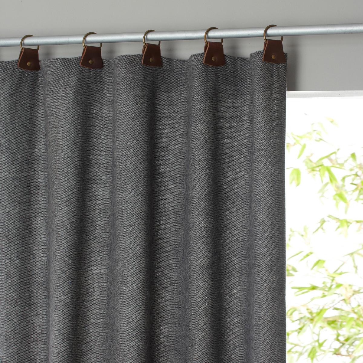 Штора La Redoute шерсти Nelson 150 x 260 см серый ящик балконный emsa country цвет серый 50 x 17 x 15 см