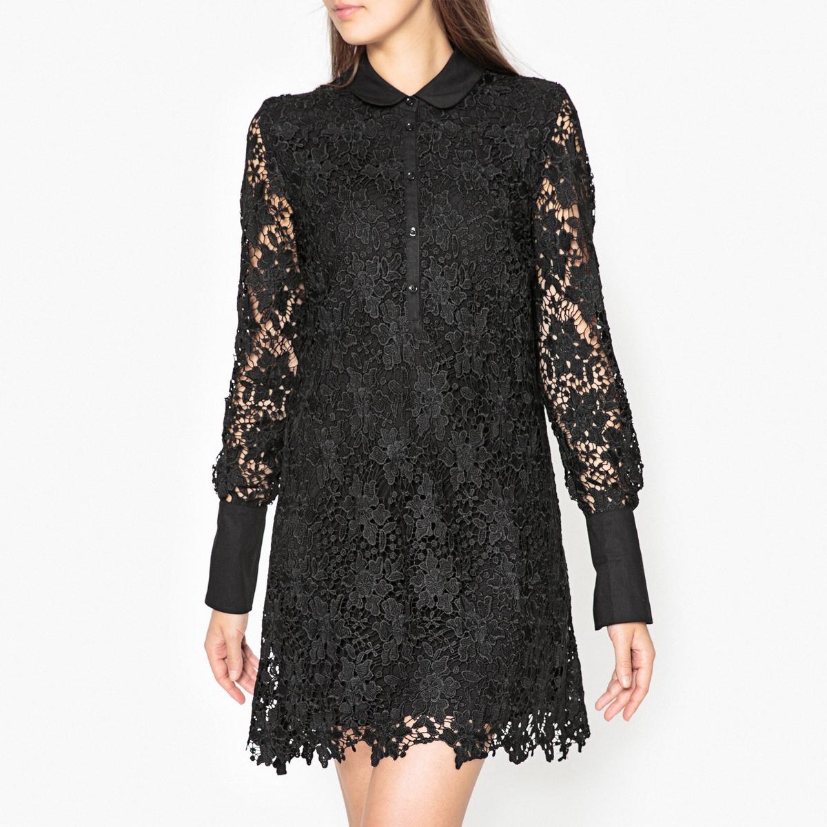 Платье LaRedoute Из кружева OILWAY 40 (FR) - 46 (RUS) черный платье laredoute из кружева oilway 40 fr 46 rus черный