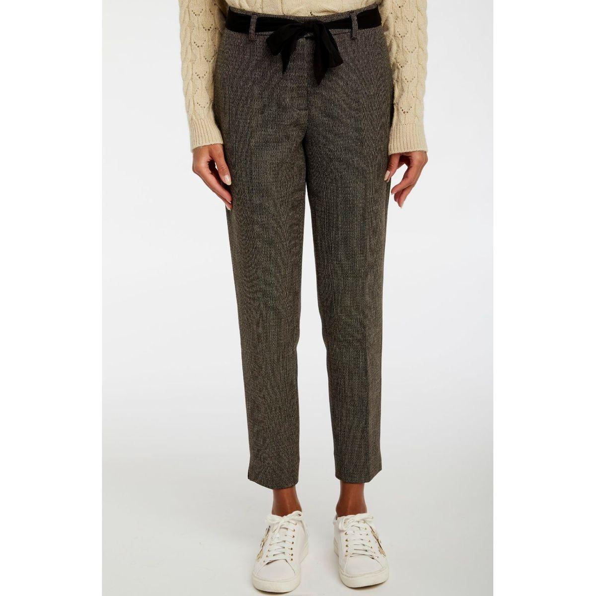 Pantalon chevron avec ceinture taille