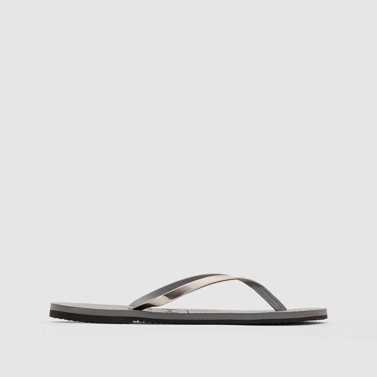 Вьетнамки Steel GreyПреимущества : Вьетнамки HAVAINAS в цвете серый металлик прекрасно впишутся в Ваш летний гардероб.<br><br>Цвет: серый