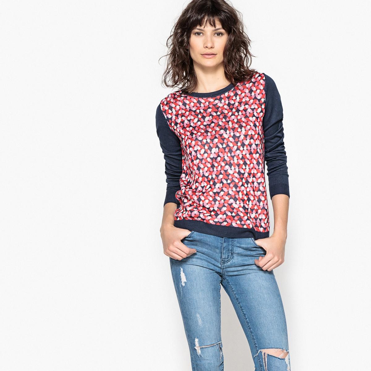 Пуловер с рисунком в горох