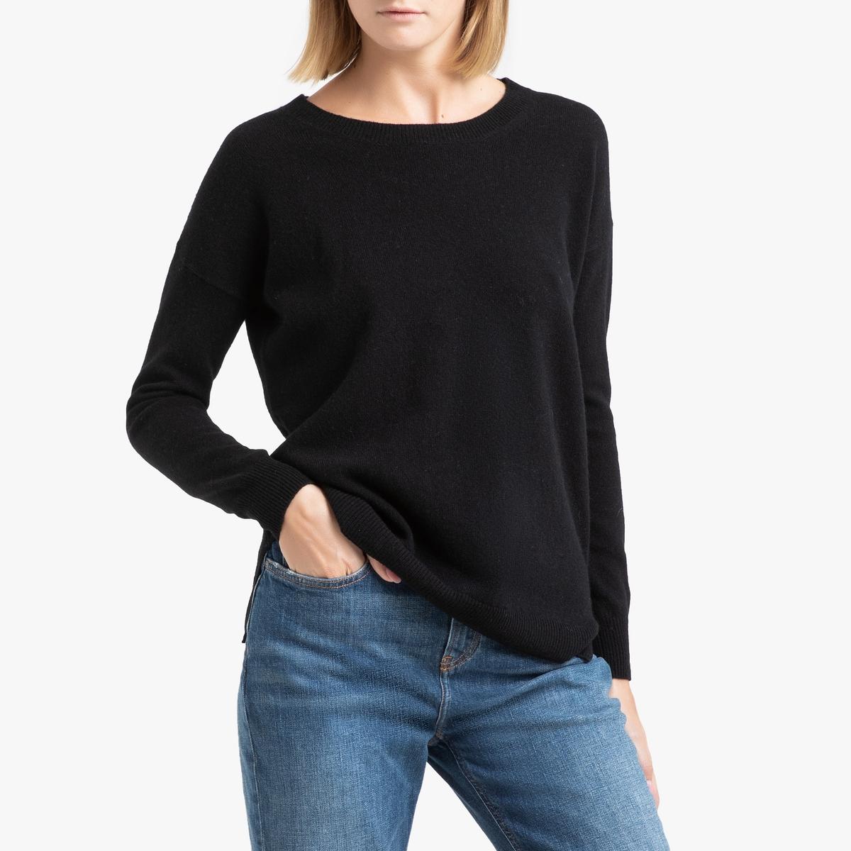 Пуловер La Redoute Кашемировый с круглым вырезом из тонкого трикотажа CHARLOTTE 1(S) черный
