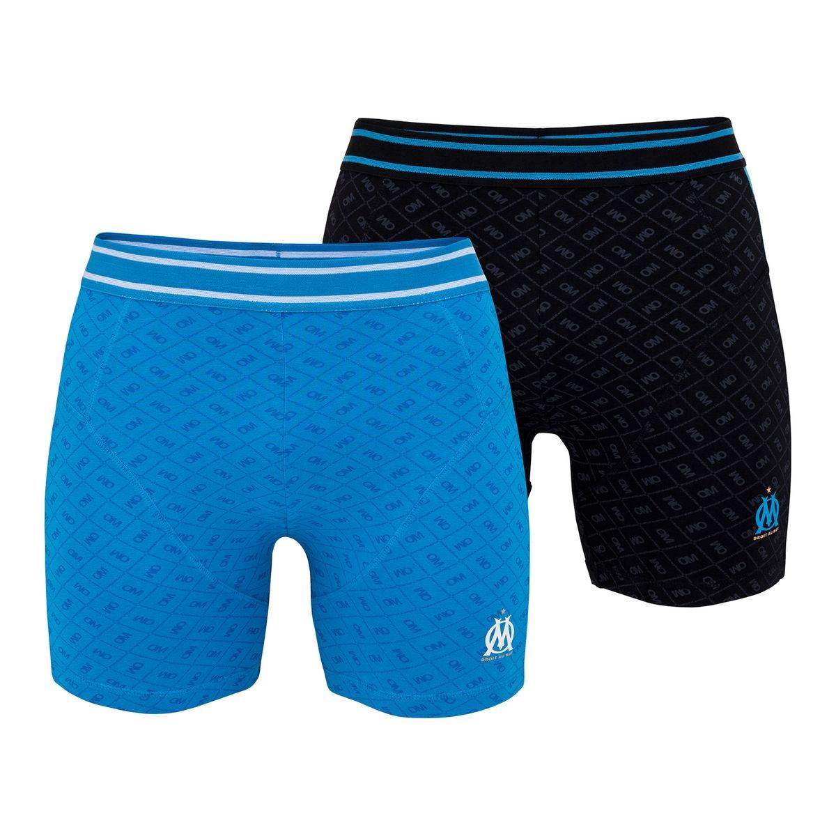 Lot 2 boxers OM Gris/Bleu Junior