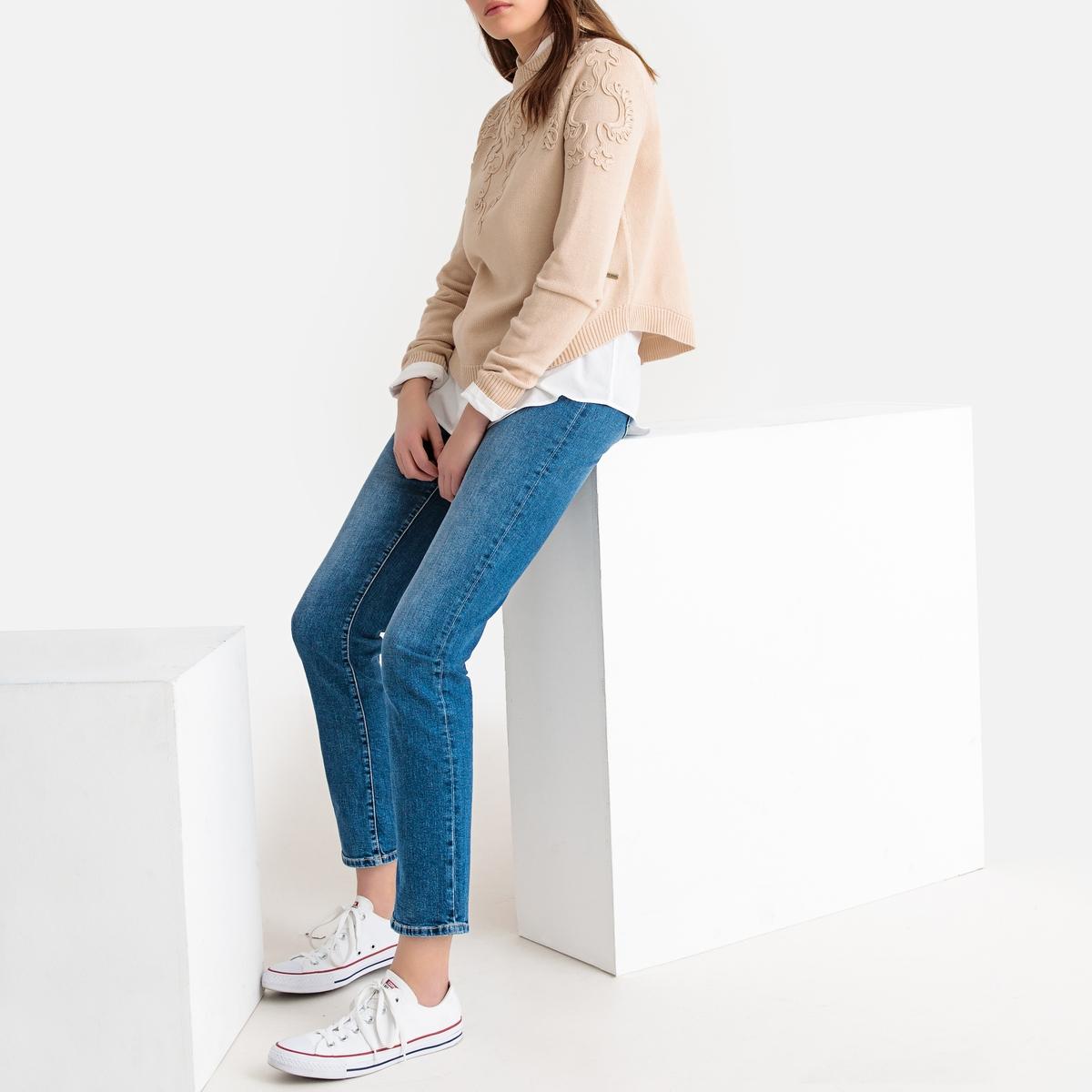Imagen secundaria de producto de Jersey con cuello redondo de punto fino con bordados - Pepe Jeans