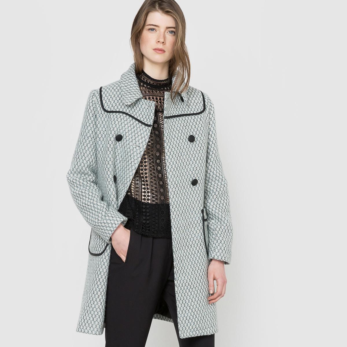 Пальто из жаккарда