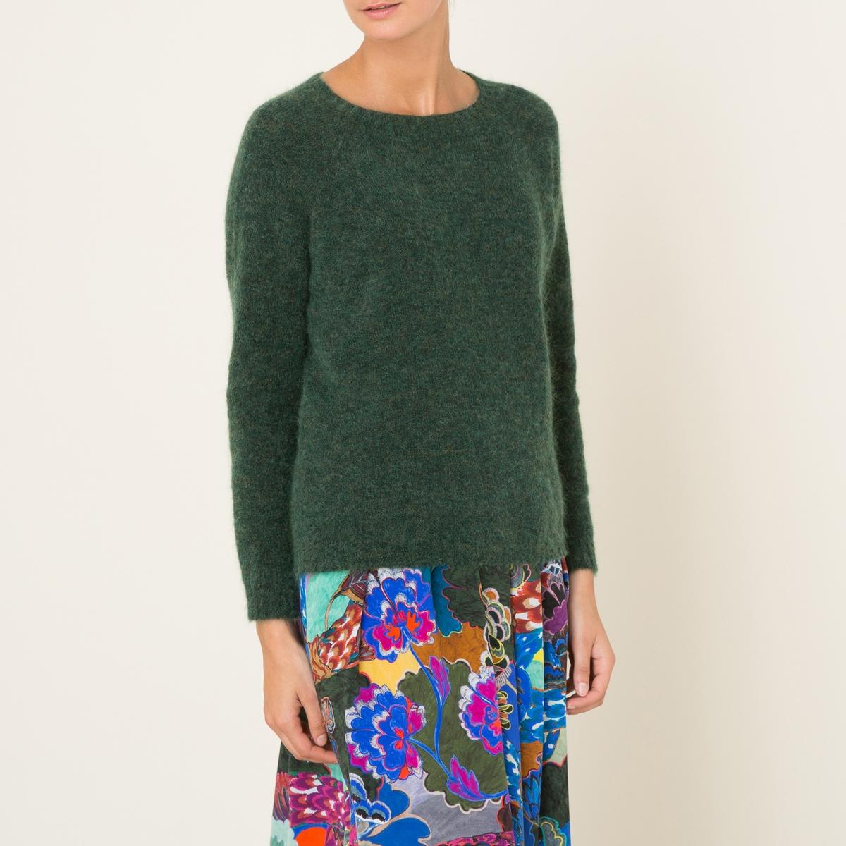 Пуловер OMACATIСостав и описание :Материал : 35% мохера, 35% шерсти, 27% полиамида, 3% эластанаМарка : MOMONI<br><br>Цвет: зеленый