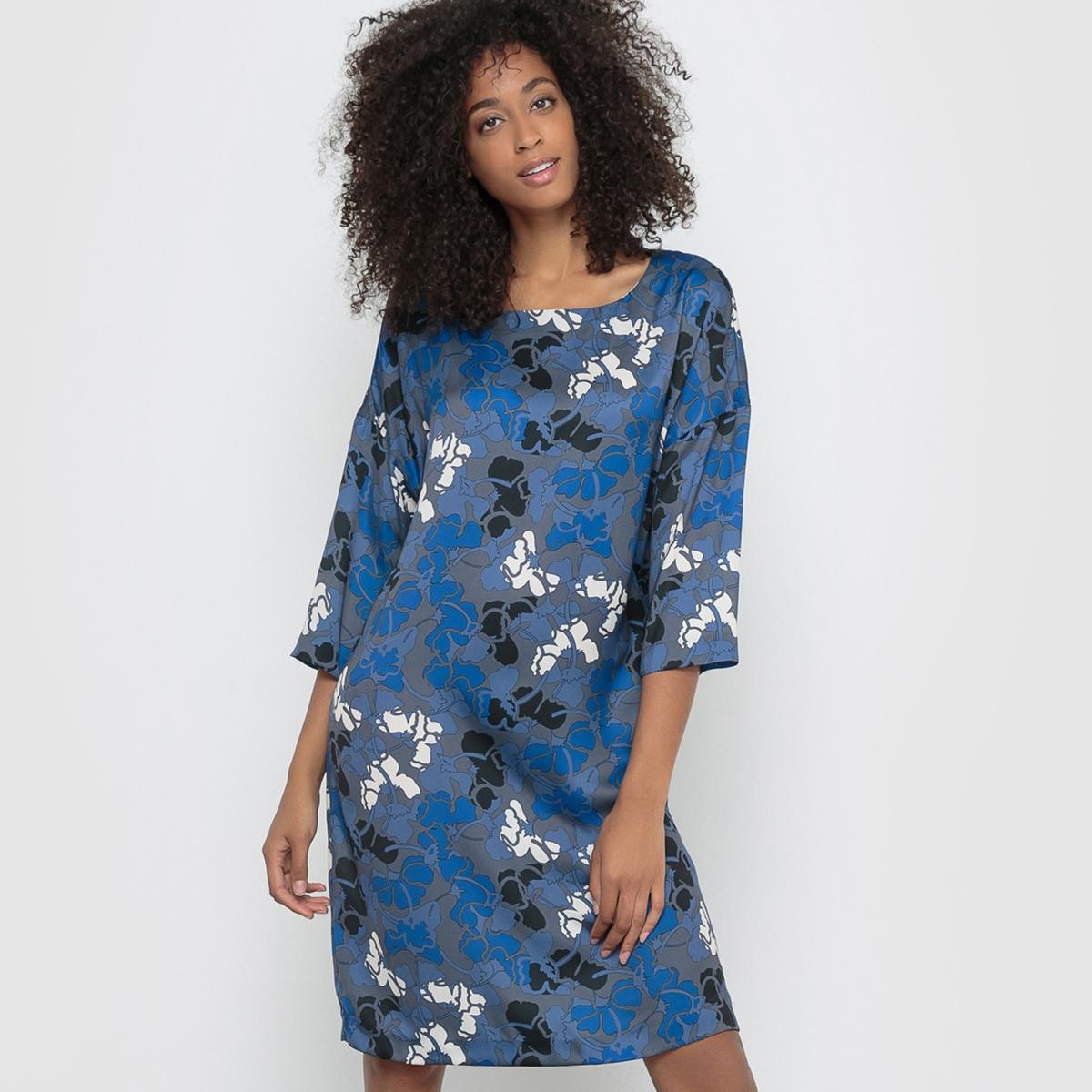 Платье с рисунком, рукава 3/4 платье с рисунком vestido conkerberry