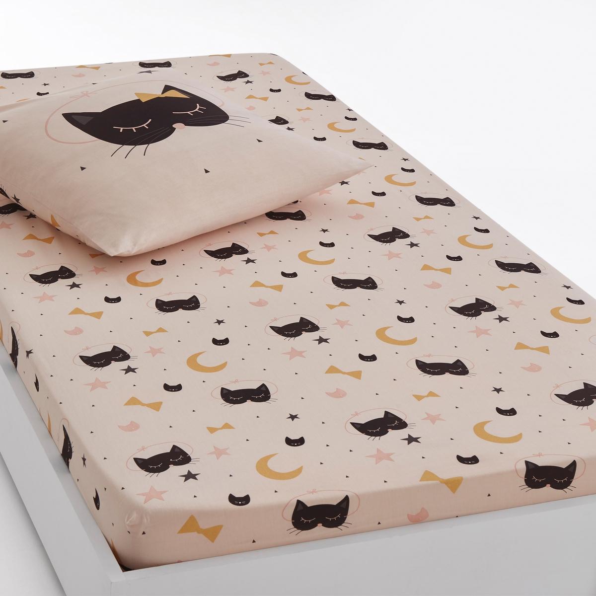 Простыня натяжная с рисунком CAT OPERA