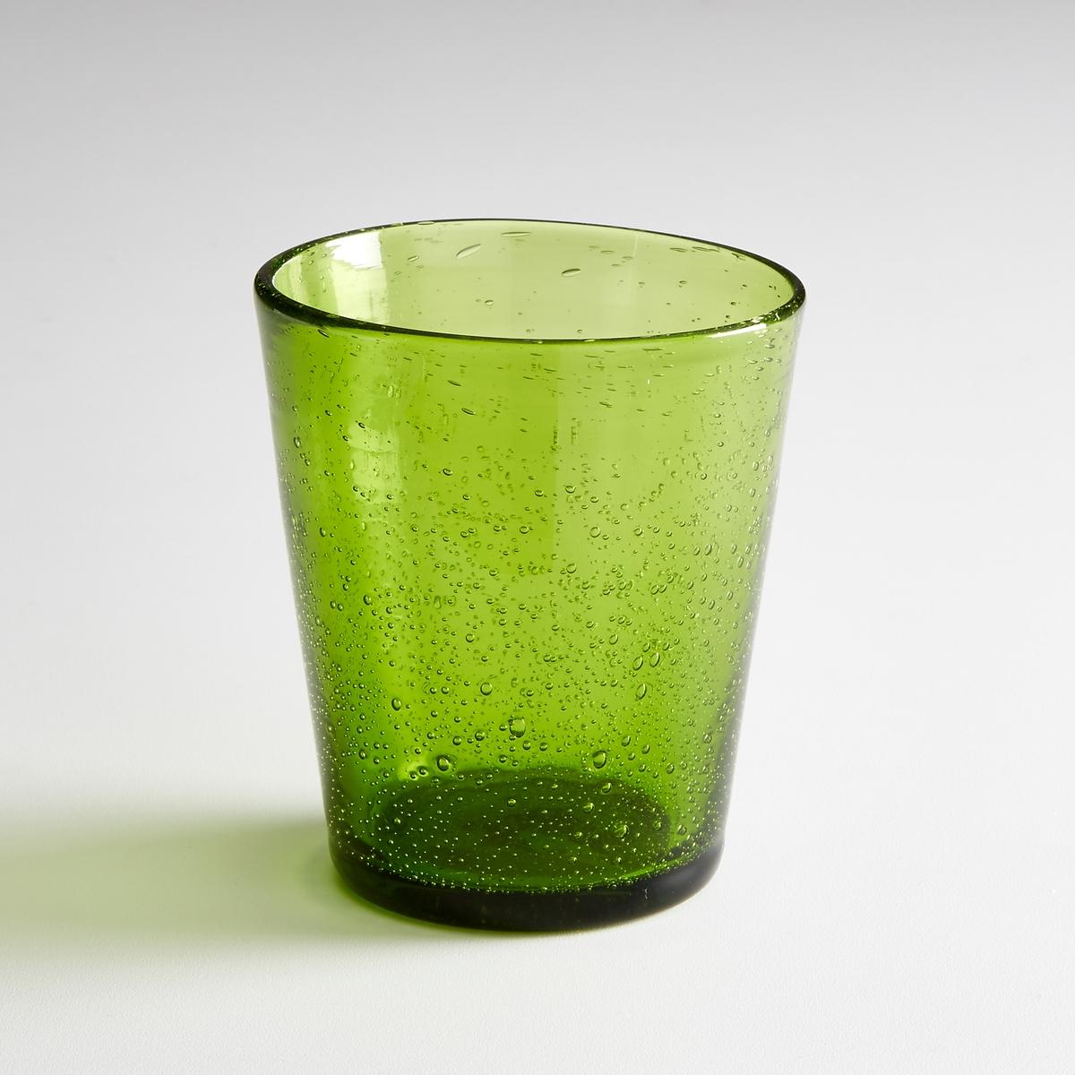 4 стакана для воды  с эффектом пузырьковFARAJIХарактеристики 4 стаканов для воды  :- Оригинальный стакан для воды с пузырьками воздуха  - Диаметр  : 6/9 см Высота : 10,5 cм Подходит для мытья в посудомоечной машинеПродаются комплектом из 4 штНайдите нашу коллекцию Faraji и другие столовые приборы на сайте laredoute.ru<br><br>Цвет: дымчато-серый,темно-зеленый