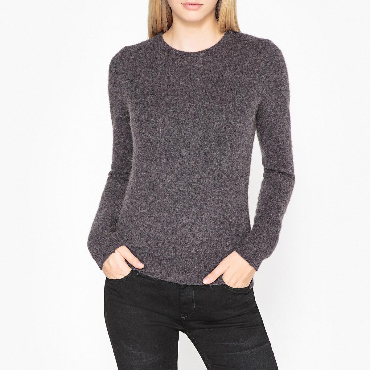 Пуловер La Redoute С круглым вырезом из трикотажа крупной вязки HANAPARK S черный свитшот la redoute с круглым вырезом и вышивкой s черный