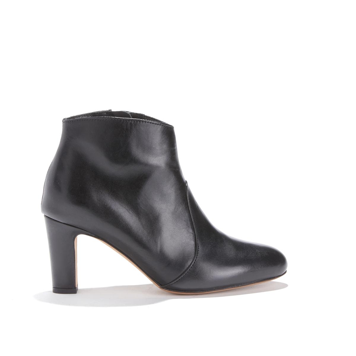 Ботильоны из кожи на высоком каблуке LA CACHOTIÈRE цены онлайн