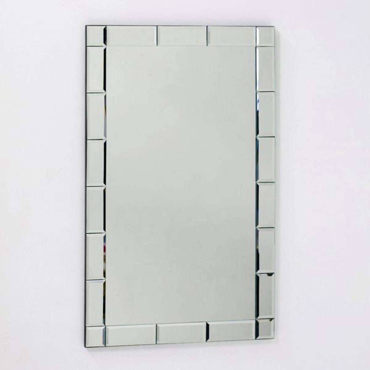 Зеркало настенное Astier, большая модель, Ш.50 x В.80 cмЭто настенное зеркало придаст комнате изысканный и утонченный стиль. Рамка со скошенными краями придает больше глубины  .    Размеры :Ш.50 x В.80 см<br><br>Цвет: безцветный