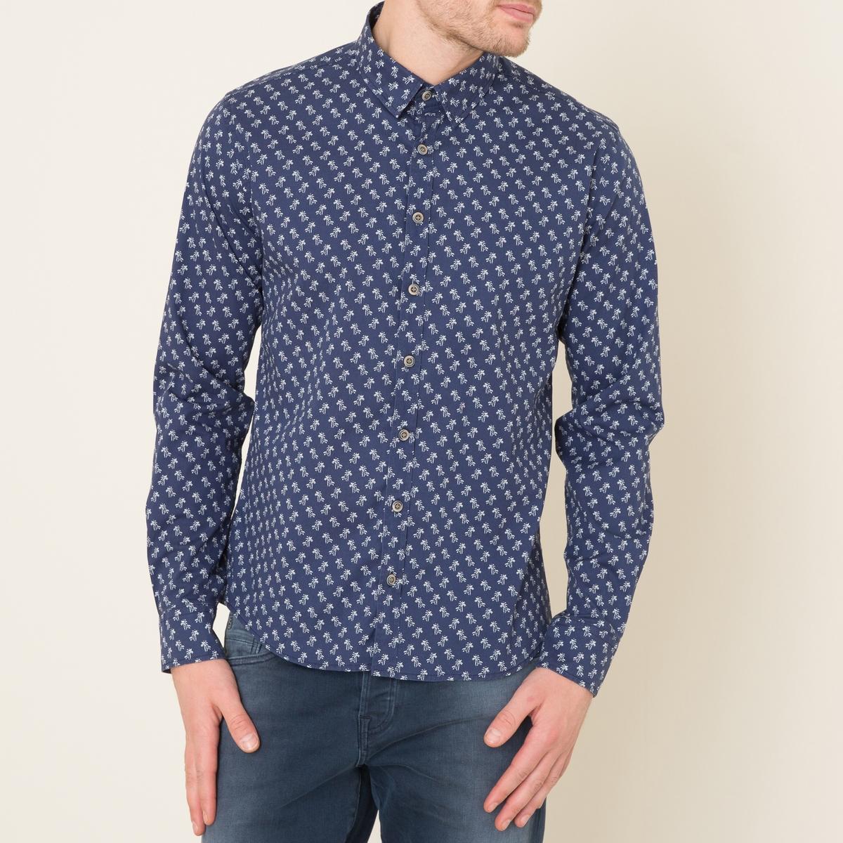 Рубашка классическая FANTINСостав и описание    Материал : 97% хлопка, 3% эластана   Марка : HARRIS WILSON<br><br>Цвет: темно-синий
