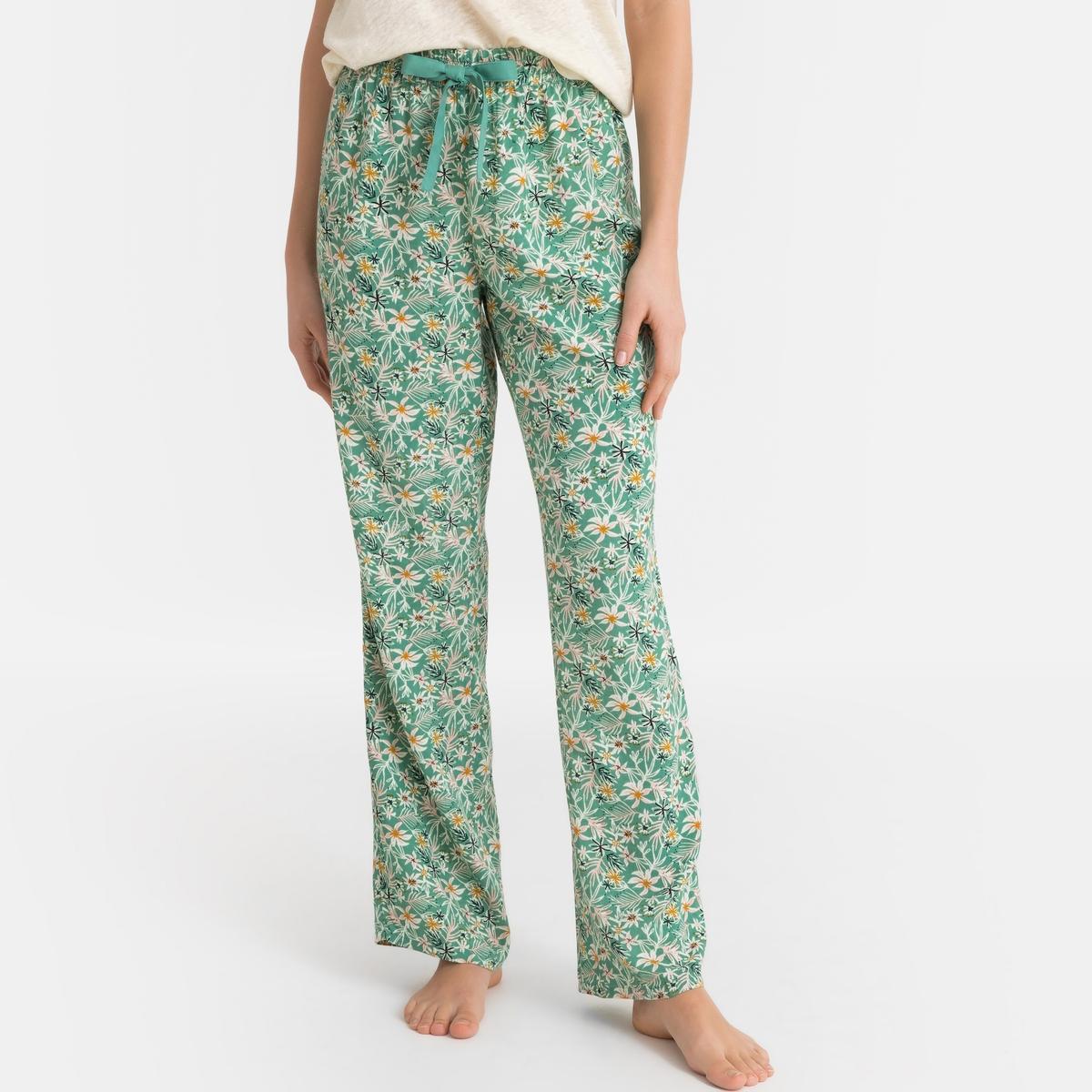 Брюки La Redoute От пижамы с цветочным рисунком 40 (FR) - 46 (RUS) зеленый юбка la redoute короткая с завышенной талией и цветочным рисунком xs зеленый