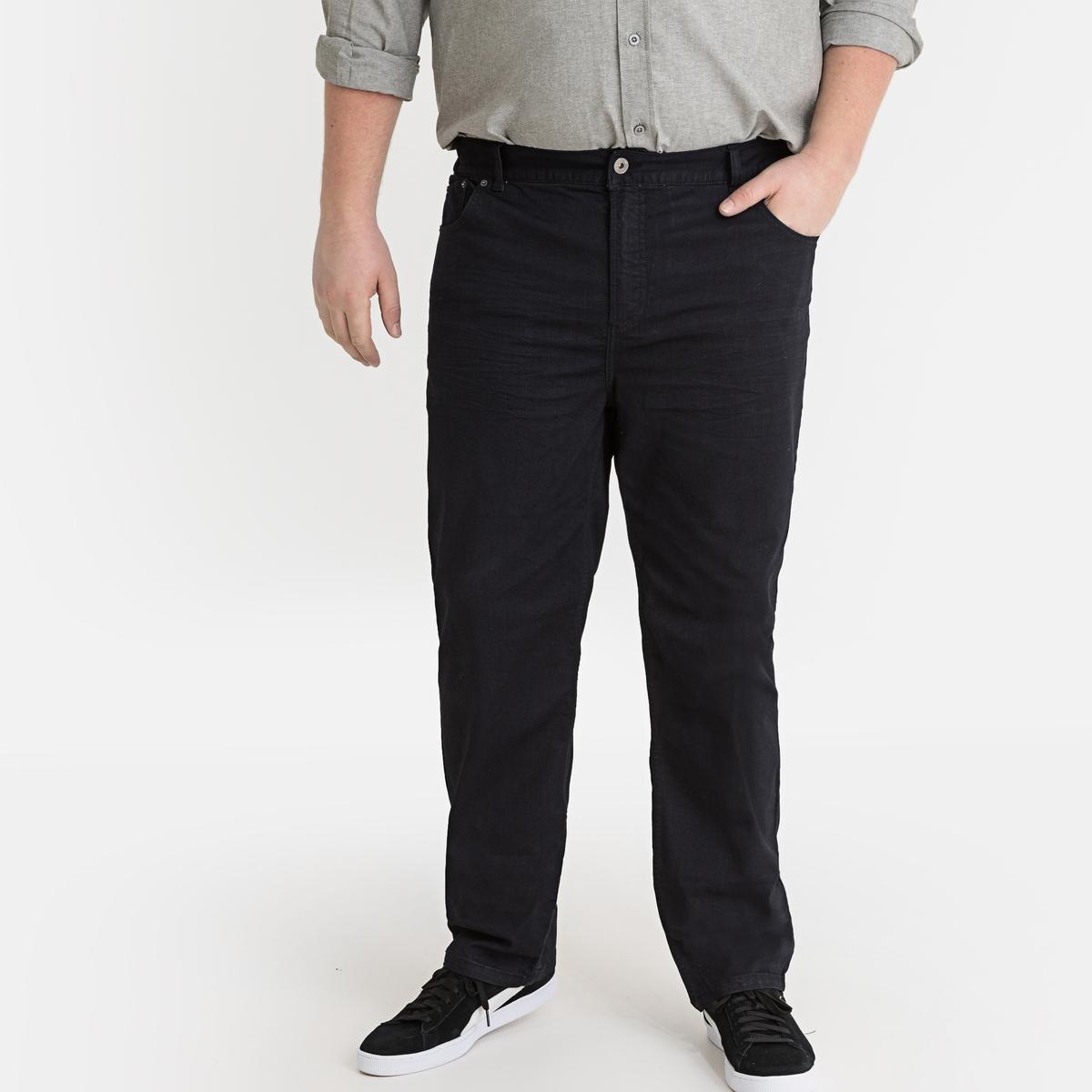 Jeans stretch preto tingido, semielásticos
