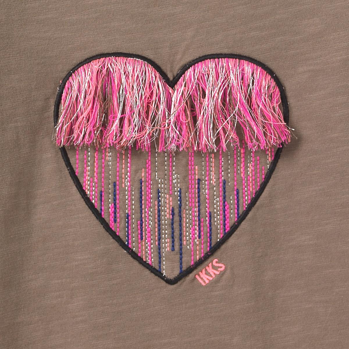 T-Shirt, lange Ärmel, gesticktes Herz 3 14 Jahre