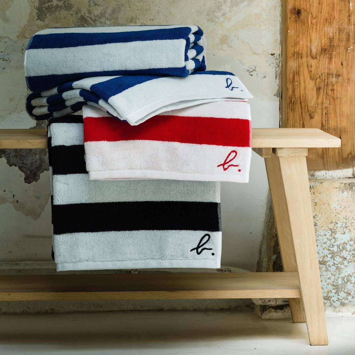 Полотенце банное большое Agnès b. полотенце в полоску из махровой ткани agnès b