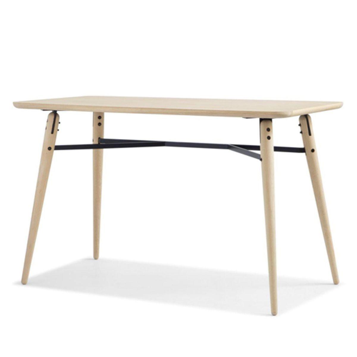 Table rectangulaire en chêne et métal