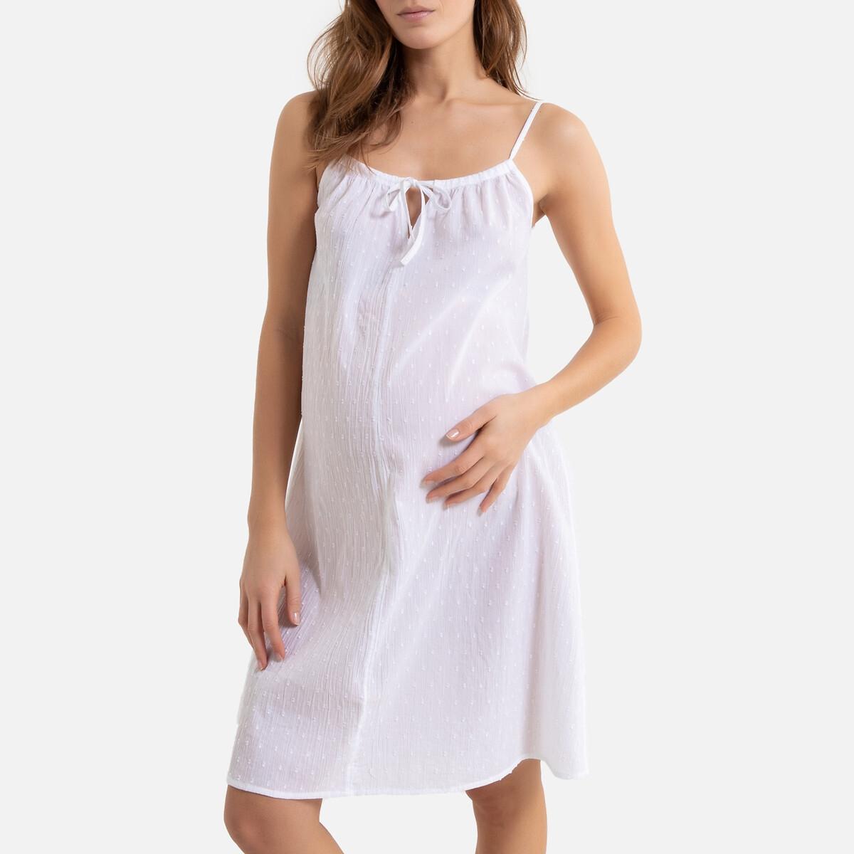 Рубашка La Redoute Ночная объемная для периода беременности и грудного вскармливания 42 (FR) - 48 (RUS) белый трусы la redoute для периода беременности шт 34 36 fr 40 42 rus белый