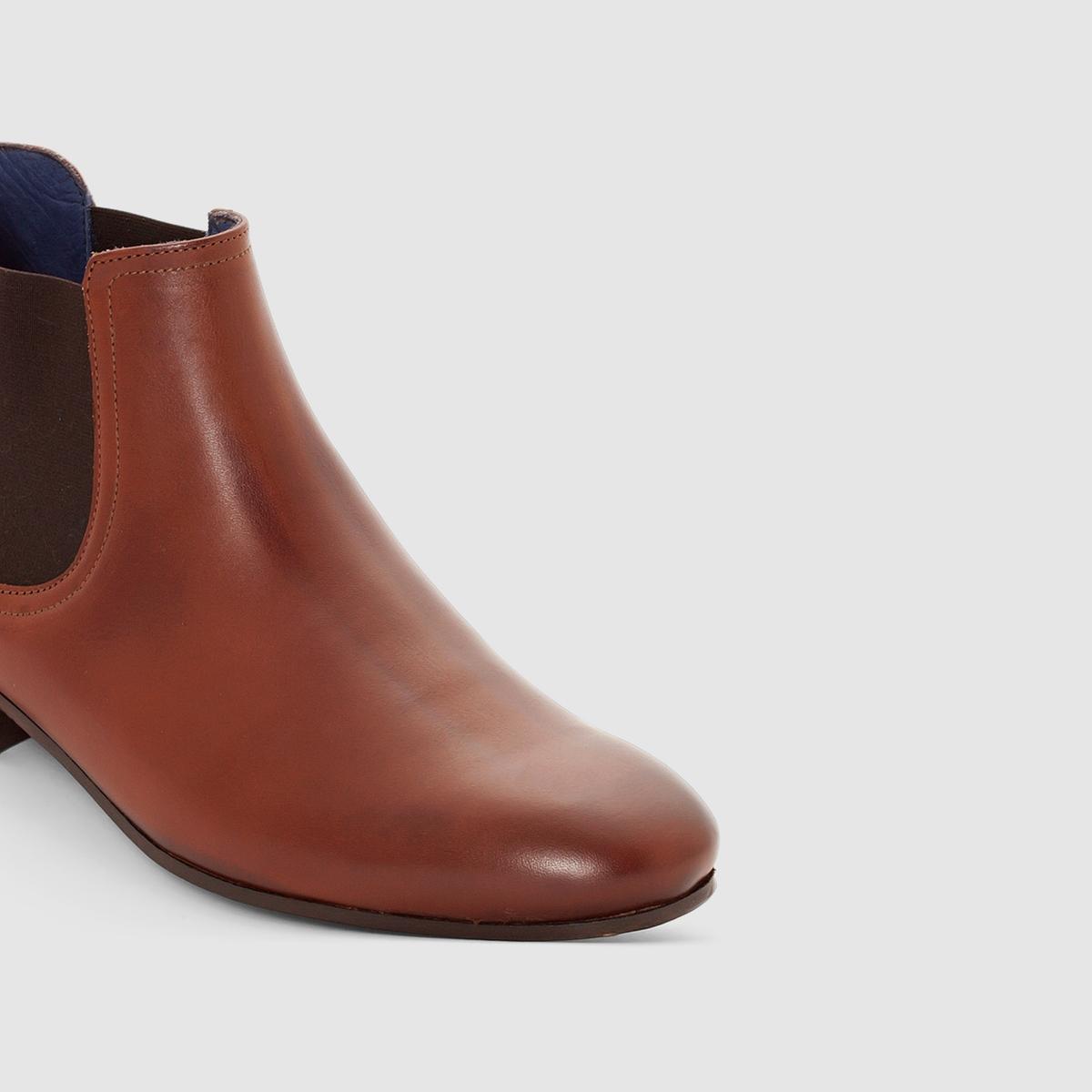 Ботинки в стиле челси ItemВерх/ голенище: яловичная кожа.   Подкладка: кожа + текстиль.   Стелька: кожа.Подошва: кожа.Застежка: без застежки.<br><br>Цвет: каштановый<br>Размер: 42
