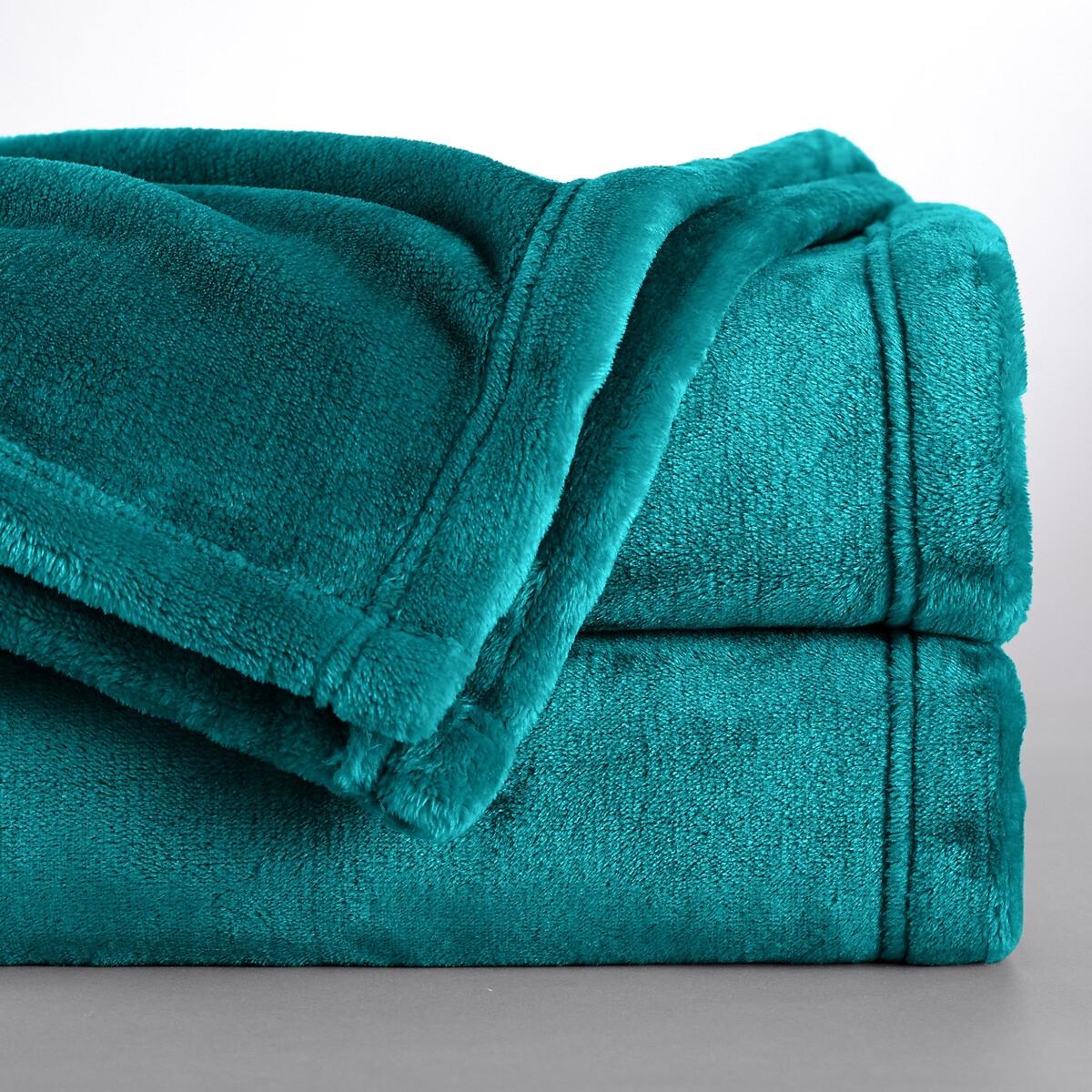 Фото - Одеяло LaRedoute Из микрофибры Mild 150 x 200 см зеленый одеяло laredoute pratique 100 полиэстер высшего качества 200 x 200 см белый
