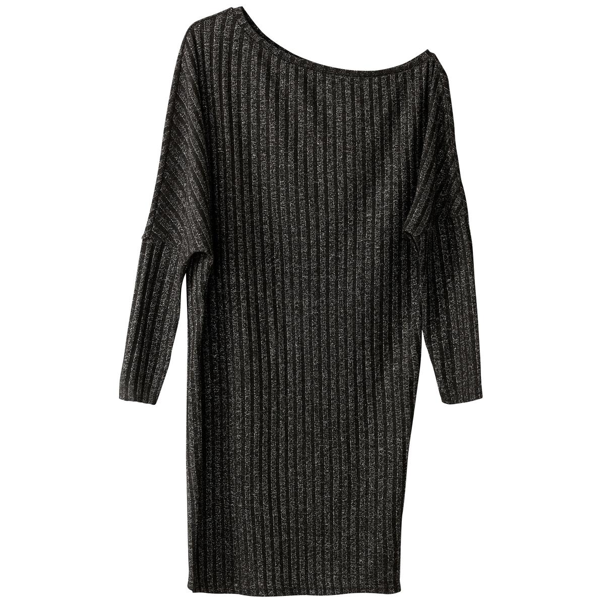 Платье прямое однотонное, средней длины, с длинными рукавамиДетали •  Форма : прямая •  Длина до колен •  Длинные рукава    •  Без воротникаСостав и уход •  60% хлопка, 40% полиэстера •  Следуйте рекомендациям по уходу, указанным на этикетке изделия<br><br>Цвет: розовый,черный<br>Размер: XL.XS