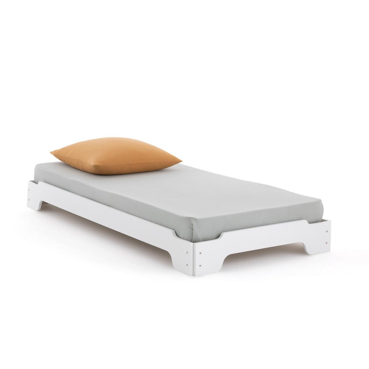 Штабелируемая LaRedoute Кровать Egzigu с основой под матрас 90 x 190 см белый