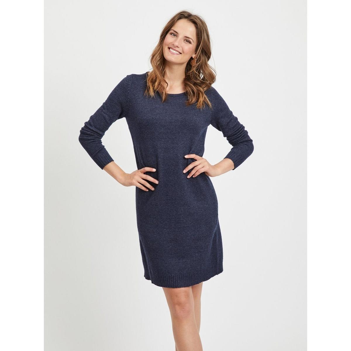 Платье-пуловер La Redoute С круглым вырезом и длинными рукавами M синий пуловер la redoute с круглым вырезом и длинными рукавами m каштановый