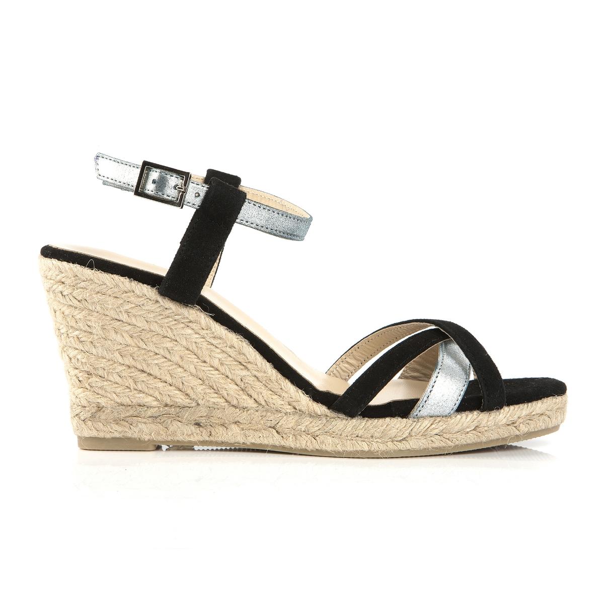 Sandálias de cunha, em pele, Vepeps