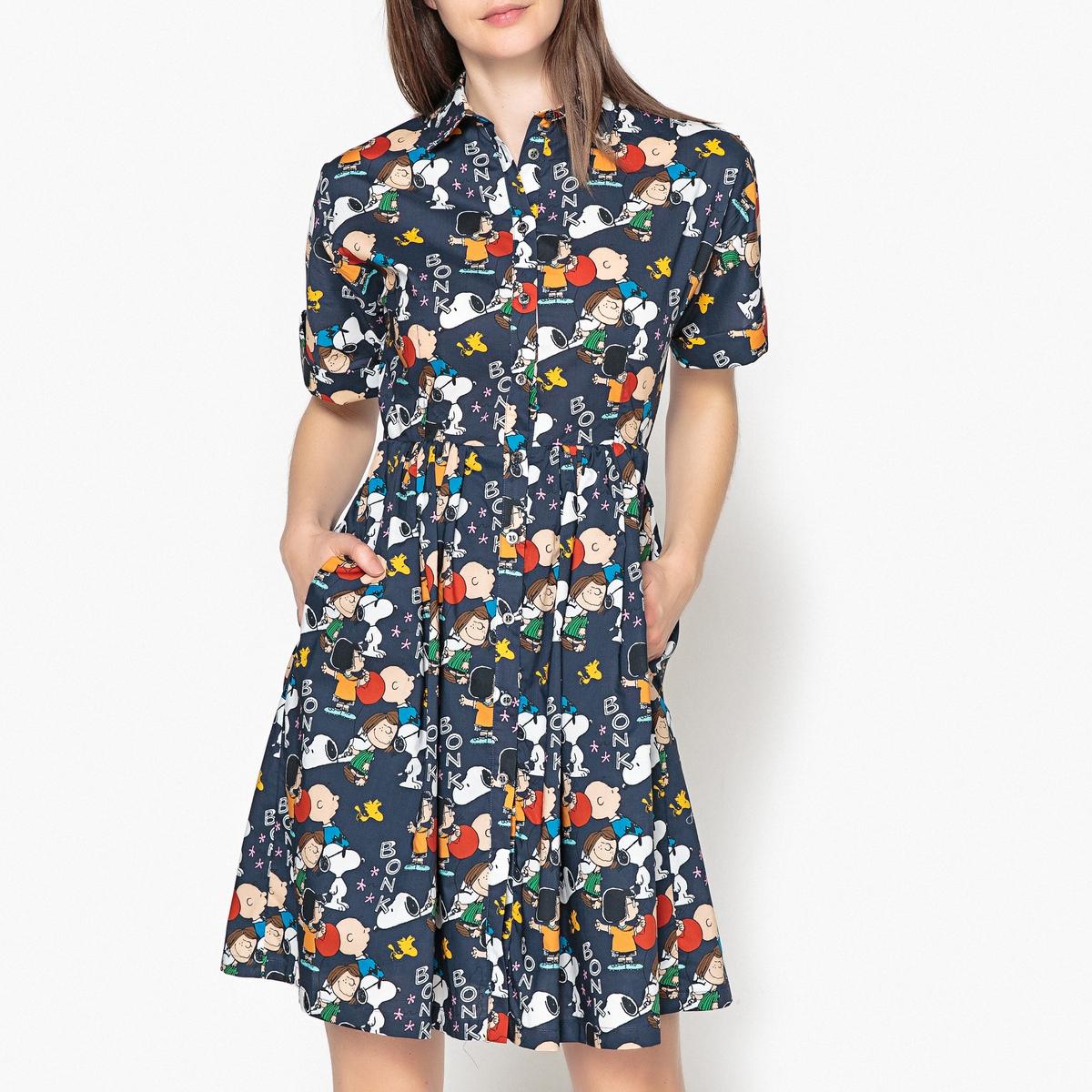Платье с рисунком и застежкой на пуговицы PEPERMINT платье с застежкой впереди
