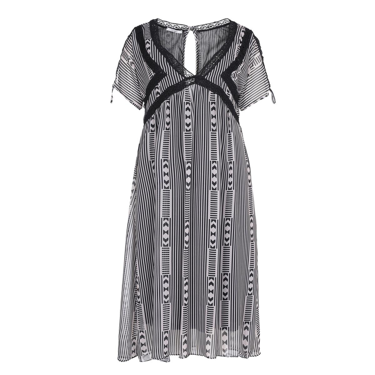 Платье<br><br>Цвет: набивной рисунок<br>Размер: 52/54 (FR) - 58/60 (RUS)