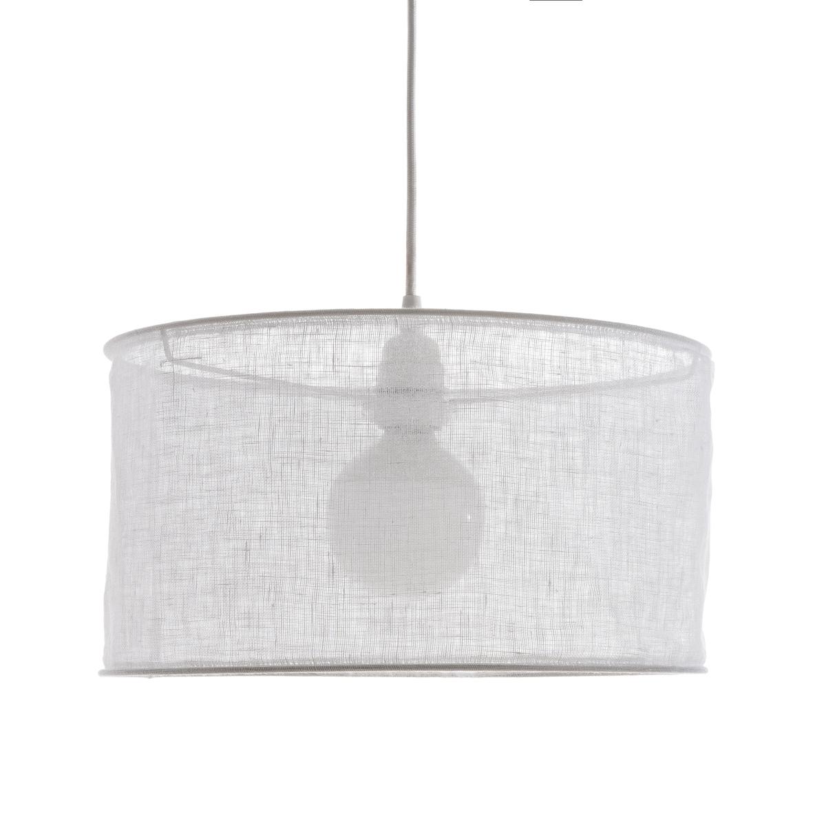 Светильник ?35 x H20 см, HolorimeСветильник Holorime. Светильник стильной цилиндрической формы из льняной вуали для создания приглушенного света. Из 100% льняной вуали. Для патрона E27. Сочетается с электрическим кабелем Sevigni, продающимся на нашем сайте . Размеры : ?35 x H20 см .<br><br>Цвет: белый,серо-бежевый